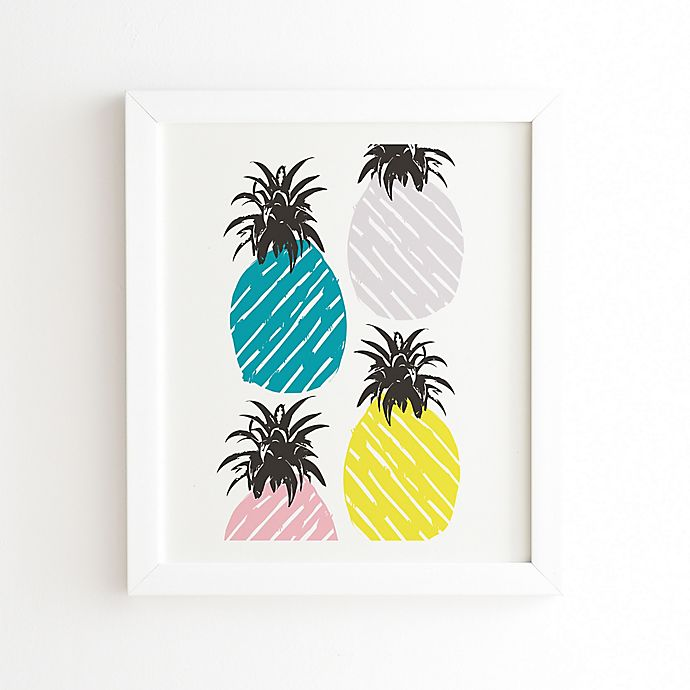 Alternate image 1 for Deny Designs Zoe Wodarz 14-Inch x 16.5-Inch Pineapple Pastel Wall Art in White