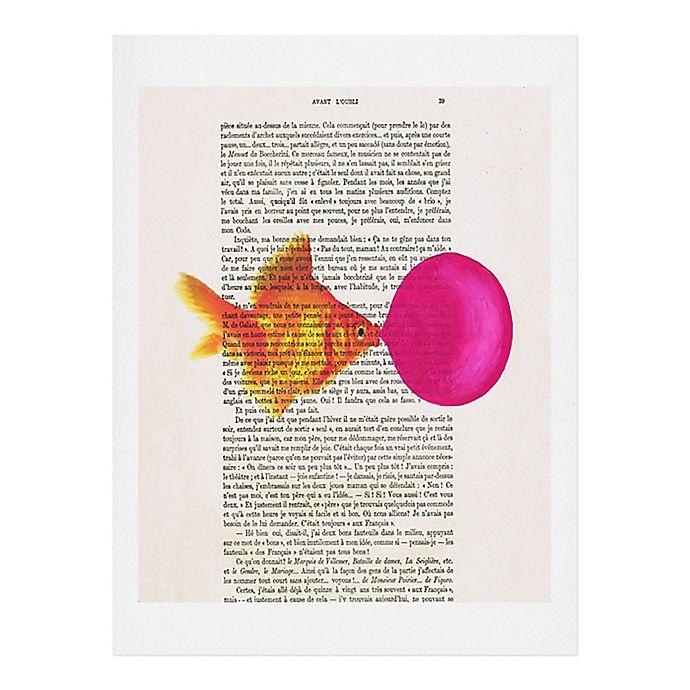 Alternate image 1 for Deny Designs 16-Inch x 20-Inch Coco Paris Goldfish Bubblegum Wall Art