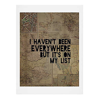 "Deny Designs Leah Flores ""I Haven't Been Everywhere but it's on My List"" Wall Art"