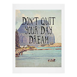 """Deny Designs """"Don't Quit Your Day Dream"""" 18-Inch x 24-Inch Wall Art"""