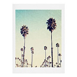 Deny Designs 11-Inch x 13-Inch Bree Madden California Palm Trees Wall Art