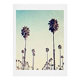 Deny Designs 11-Inch x 13-Inch Bree Madden California Palm Trees Wall Art