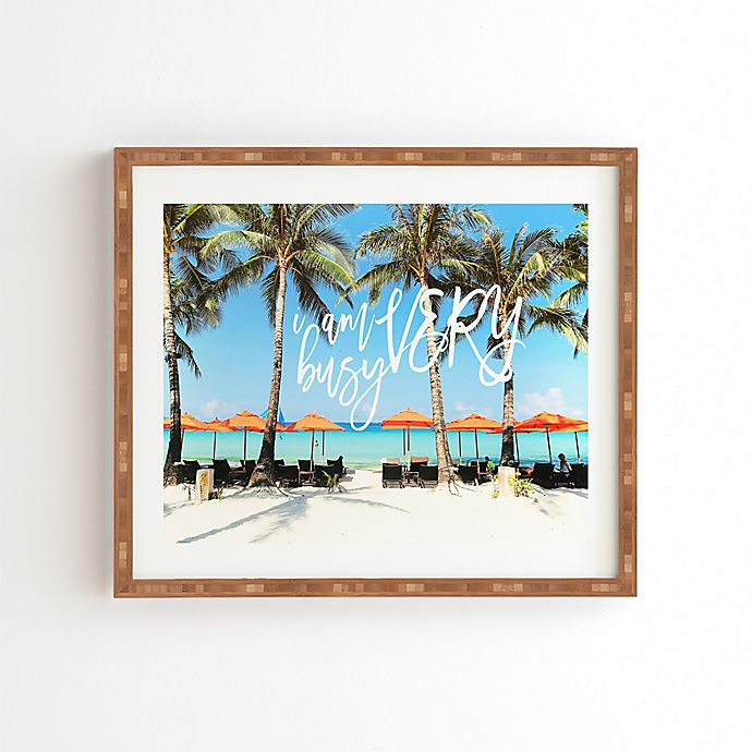 Alternate image 1 for Deny Designs Happee Monkee 16.5-Inch x 14-Inch Very Busy Beach Series Framed Wall Art