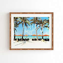 Deny Designs Happee Monkee 22.4-Inch x 19-Inch Very Busy Beach Series Framed Wall Art