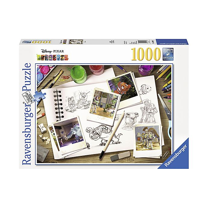 Alternate image 1 for Disney® Pixar 1000-Piece Sketches Jigsaw Puzzle