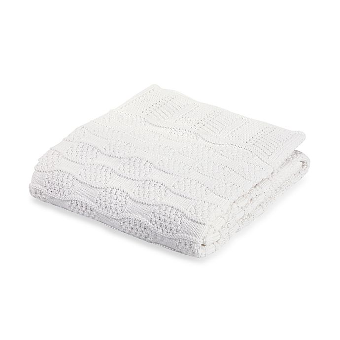 Alternate image 1 for Elegant Baby® Fancy White Blanket