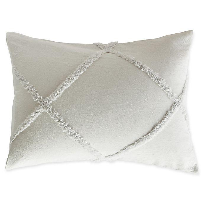 Peri Home Chenille Lattice Pillow Sham