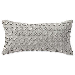 Highline Bedding Co. Adelais Ribbon Breakfast Throw Pillow in Grey