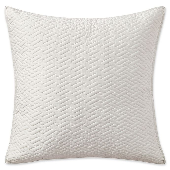 Alternate image 1 for Highline Bedding Co. Adelais Quilted Square Throw Pillow in White