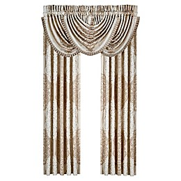 J. Queen New York™ La Scala 84-Inch Rod Pocket Window Curtain Panel Pair in Gold