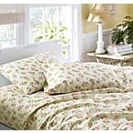 Laura Ashley® Audrey Flannel Queen Sheet Set in Pink