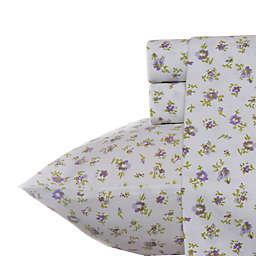 Laura Ashley® Petite Fleur Sheet Set in Lilac