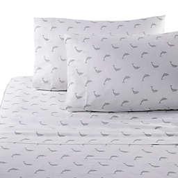 Panama Jack Dolphin 300-Thread Count Sheet Set in Grey