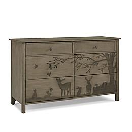 ED Ellen DeGeneres Forest Animal 6-Drawer Double Dresser in Natural Grey