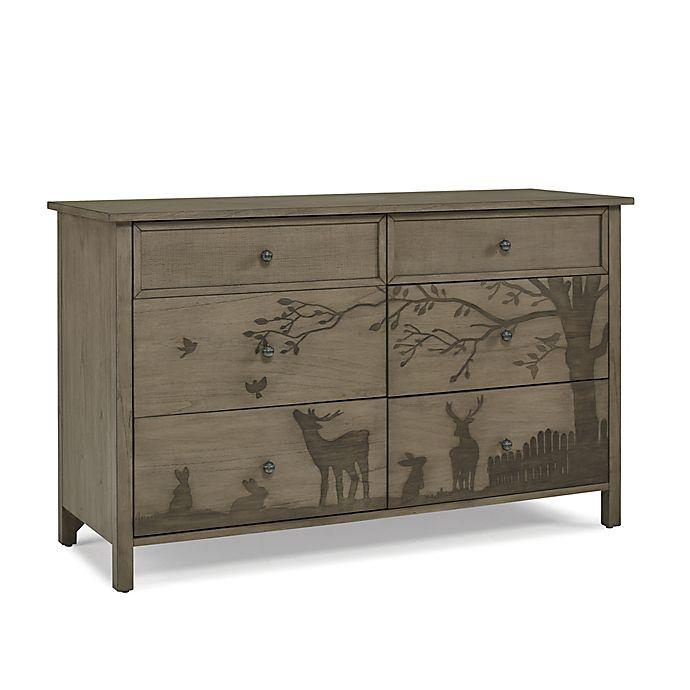 Alternate image 1 for ED Ellen DeGeneres Forest Animal 6-Drawer Double Dresser in Natural Grey