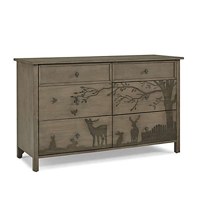 ED Ellen DeGeneres Forest Animal 6-Drawer Double Dresser in Natural Grey