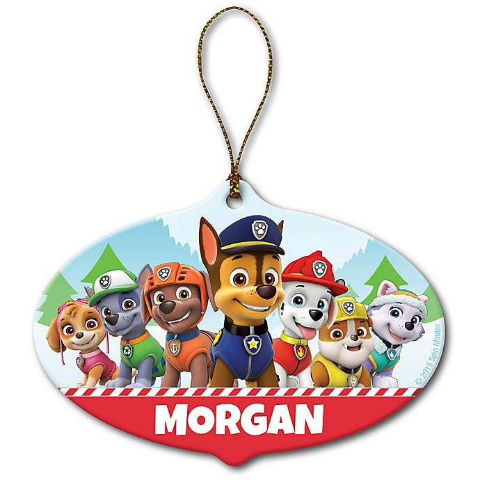 Alternate image 1 for Paw Patrol Holiday Pups Ceramic Ornament