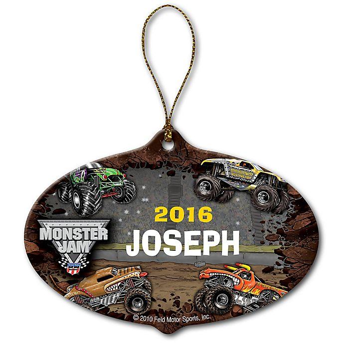 Alternate image 1 for Monster Jam Grave Digger Stadium Ceramic Ornament