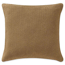Highline Bedding Co. Windham Knit Square Throw Pillow in Gold