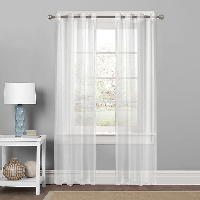 Colordrift Sparkle Sheer Grommet Top, Shimmer Sheer Curtain Panels