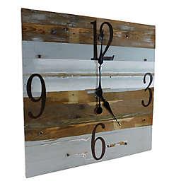 Sweet Bird & Co. Reclaimed Wood 30-Inch Clock in Whisper Blue