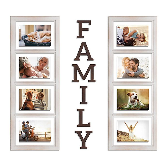Alternate image 1 for Wallverbs™ Family 8-Piece Picture Frame Set
