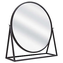Raw Metal Pedestal Floor Mirror