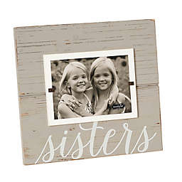 Mud Pie® Sisters 5-Inch x 7-Inch Picture Frame in Grey