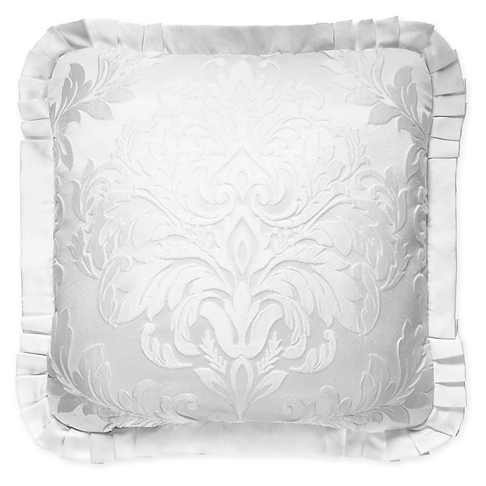 Alternate image 1 for J. Queen New York™ Carmella Square Throw Pillow in White