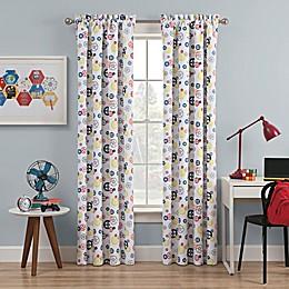 Waverly Kids Wind Me Up Rod Pocket Room Darkening Window Curtain Panel in Denim