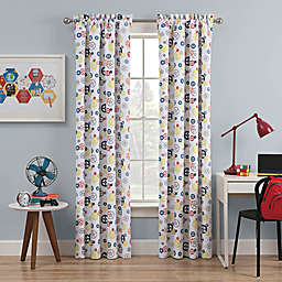 Waverly Kids Wind Me Up Rod Pocket Room Darkening Window Curtain Panel in Denim