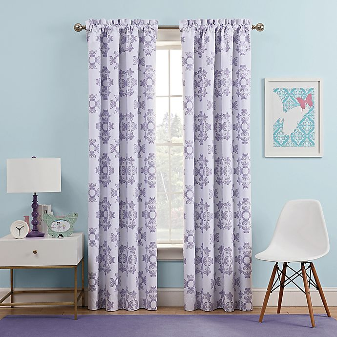 Alternate image 1 for Waverly Kids Ipanema 63-Inch Rod Pocket Rom Darkening Window Curtain Panel in Lavender