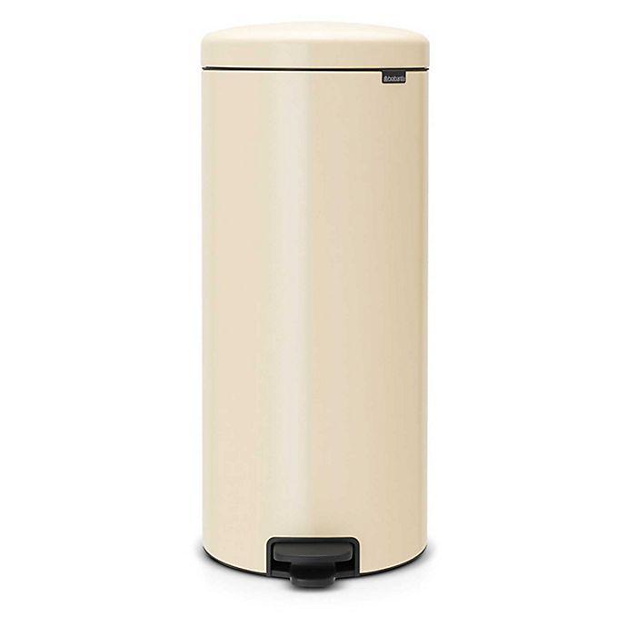 Alternate image 1 for Brabantia® 8-Gallon newIcon Pedal Bin Trash Can in Almond