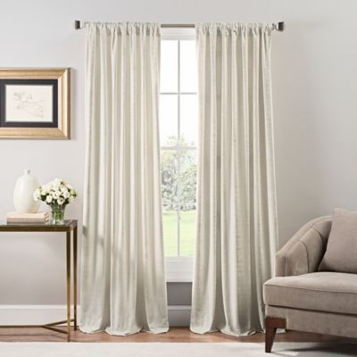Stockton Velvet Rod Pocket/Back Tab Window Curtain Panel