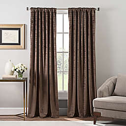 Stockton Velvet 108-Inch Rod Pocket/Back Tab Window Curtain Panel in Mocha
