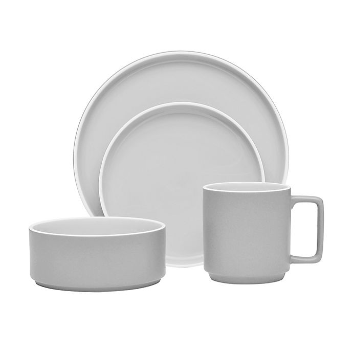 Alternate image 1 for Noritake® ColorTrio Stax Dinnerware Collection in Slate