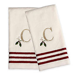 Saturday Knight Holly Monogram Hand Towels (Set of 2)