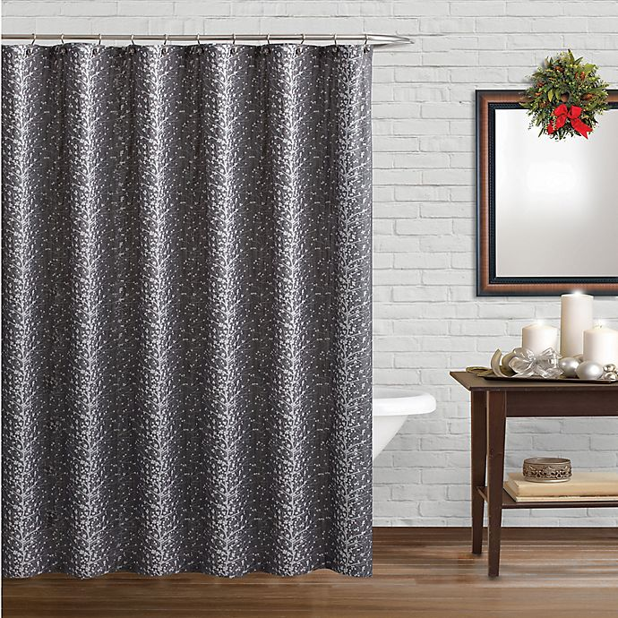 Beatrice Home Fashions Winter Forest Shower Curtain