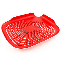 Trovolo Pren N' Rinse Flat Colander in Red