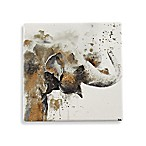 Thirstystone® Water Elephant Square Single Coaster in Gold