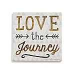 Thirstystone® Love the Journey Square Single Coaster in Gold