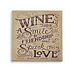 Thirstystone® Wine and Smile Square Single Coaster