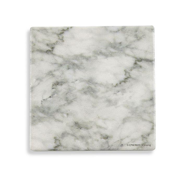 Thirstystone 174 Printed Grey Amp White Marble Square Single
