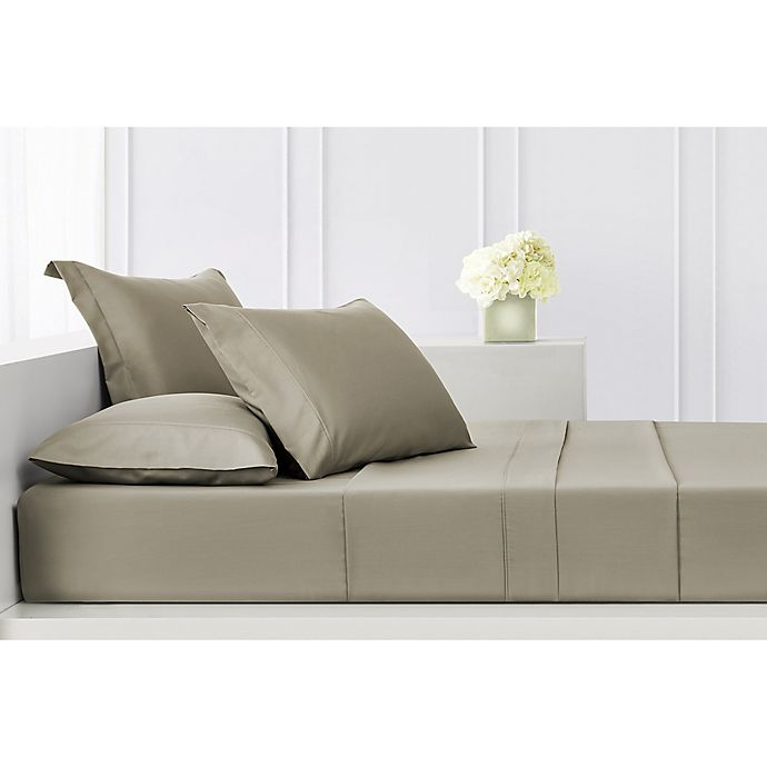 Alternate image 1 for Highline Bedding Co. Sullivan Solid 400-Thread-Count California King Sheet Set in Taupe