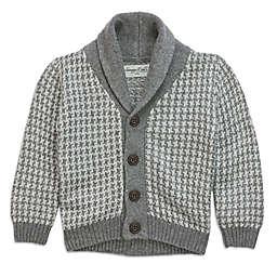 Sovereign Code™ Shawl Collar Cardigan in Grey/White