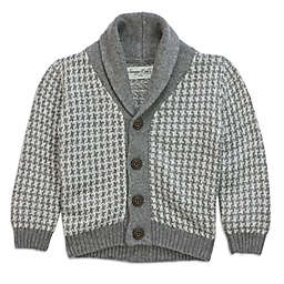 Sovereign Code™ Shawl Collar Cardigan in Grey/White
