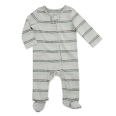 aden® by aden + anais® Funky Stripe Footie in Grey