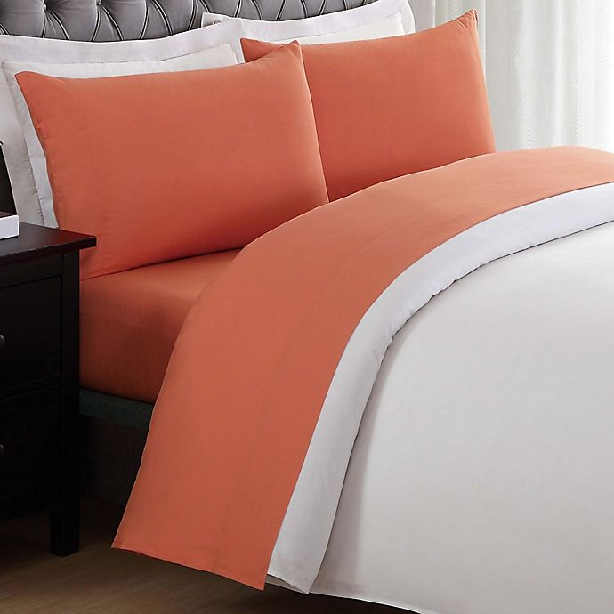 Alternate image 1 for My World Solid Twin Sheet Set in Orange