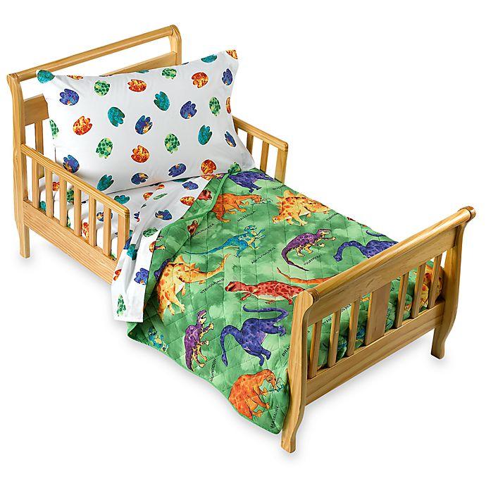 low priced 93001 bad10 Crayola® Dinosaur 4-Piece Toddler Bedding Set   buybuy BABY
