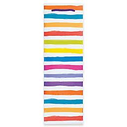Design Design Rainbow Stripes Bottle Gift Bag